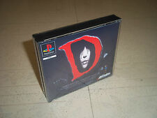 """""""D"""".BIG BOX PAL PLAYSTATION 1 (PS1) .REPLACEMENT CASE+INLAYS ONLY.NO GAME"""