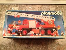 NOS Vintage Playmobil Fire Engine /Truck 3525 Rare 1983 W. Germany- Never Opened
