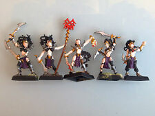 Warhammer Dark Elves - Witch Elves x5 Command Group Metal DE21b