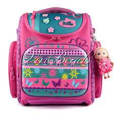 Delune Cartoon Butterfly Orthopedic School Bag Book Student Child Backpack