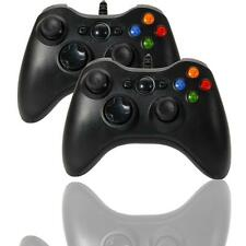 2 XBox 360 USB Wired Gamepad contrôleur joystick pour ordinateur PC Windows noir