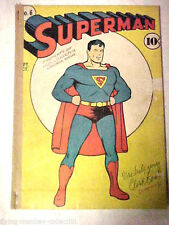 Superman #6 1940 DC Comics Golden Age A Pop Hollinger Rebuilt Comic Book