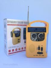 New Solar Powered Dynamo Radio Wind Up LED Torch Lamp Emergency Camping
