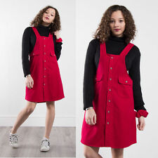 VINTAGE 90'S REWORKED FLANNEL PINAFORE DRESS MATCHING SCRUNCHIE SHIRT CASUAL 10