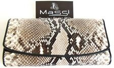 Genuine Real Python Snake Leather Woman Bifold Clutch Wallet Natural Rare New