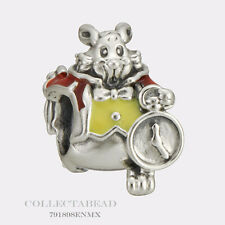 Authentic Pandora Sterling Silver Disney White Red Yellow Rabbit Bead 791898ENMX