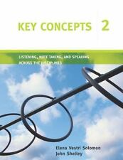 Key Concepts Listening, Note Taking, and Speaking Across the Disciplines: Liste…