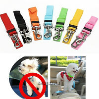 Cat Dog Pet Car Safety Seat Belt Harness Restraint Lead Adjustable Travel Clip