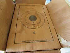 400 Military Paper Rifle Range Targets Army Issue #A1000 Rock Island Arsenal