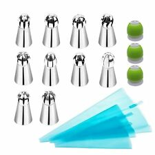 LOHOME Russian Piping Tips 16-pieces Set - 10 Spherical Pastry Nozzles [304 + 3