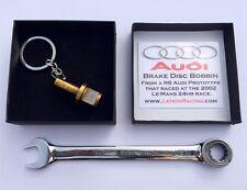Audi R8 Le-Mans 24hr keyring keyfob guys mans race car driving motorsport gift