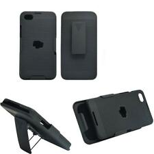 New Comb Slide Hard Case + Holster Belt Clip Cover Kickstand For BlackBerry Z30