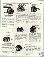 1956 PAPER AD Fly Fishing Reel South Bend Perrine Penco Shakespeare Marlin
