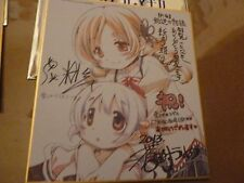 Puella Magi Madoka Magica Mini Autograph Board Rebellion Movie 3 Mami Nagisa LE