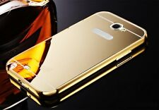 Metal Mirror Case iPhone 5 6 7 Samsung Galaxy S5 7 Note Slim Reflective + GLASS