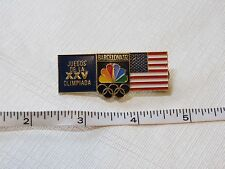 Games of the XXV Olympiad Barcelona '92 RARE NBC NEWS pin Juegos De La Olimpiada