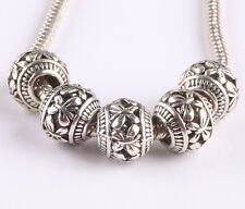 100pcs retro Tibetan silver spacer beads fit Charm European Bracelet AS418