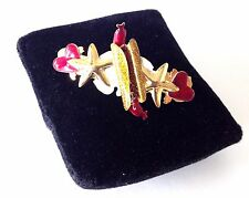 FRANCE Very Rare LUNCH AT THE RITZ  Hot Dog Sausage Enamel Hair Clip Barrette