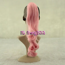 """Long Wavy 20"""" Colorful Clip In/On Hair Extensions Piece Curly Claw Ponytail"""