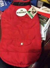 SIMPLY DOG JACKET Size Medium Red & Plaid Reversible  NEW PET ACCESSORIES