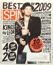 SPIN MAGAZINE BEST OF 2009 KINGS OF LEON PARAMORE WOLFMOTHER DRAKE U2 VERY RARE!