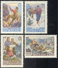 Russia 1959 Tourism/Sports/Mountain Climbing/Skiing/Canoeing 4v set (n33482)