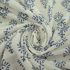 "Indian Hand Block Print Cotton Fabric Dress 45"" Wd Craft Material By 1 Metre"