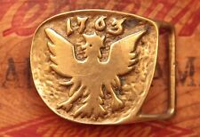 Vintage Laurie Solid Brass Phoenix Bird Belt Buckle