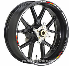Adesivi Moto - Adesivi cerchi per BMW1000RR Deutsch Flagge - stickers wheels