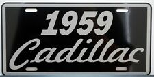 1959 59 CADILLAC METAL LICENSE PLATE ELDORADO COUPE DE VILLE SEDAN FLEETWOOD