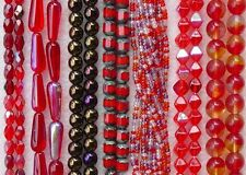 Czech Glass Assorted Red Cathedral Teardrop Fire Polished Bulk 2000 + Lot Beads