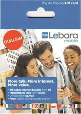 UK Lebara SIM Card with £10 credit (Official Combo SIM - both standard or micro)