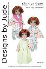 "Slumber Party Doll Clothes Sewing Pattern 10"" Patsy & Ann Estelle by Tonner"