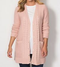 Plus Size Pearl Rose Boyfriend Cable Knit Cardigan Sweater Size 4X(34/36)