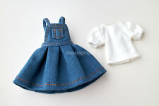 Neo Blythe, Licca Doll Outfits Clothes Blue Jeans Jumper Skirt & T-Shirt