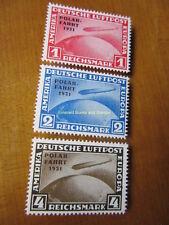 EBS Germany 1931 Zeppelin Polar Flight set Michel 456-458 REPRINTS