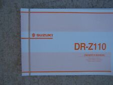 2002 Suzuki DR-Z110 Motorcycle Owner Manual K3 Off Road Youth MORE IN STORE  S
