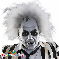 Adults Deluxe Official Overhead Beetlejuice Mask Halloween Fancy Dress Accessory