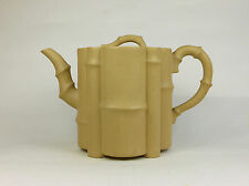 Antique Chinese 20th Century Yixing Pottery Teapot BAMBOO FORM Signed Base
