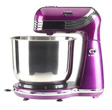 Compact Mixer Electric Hand Cake Bowl Purple Stainless Steel Attachments EGL NEW