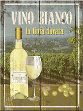 Vino Bianco White Wine Drink Bistro Cafe Restauraunt Kitchen Fridge Magnet Art