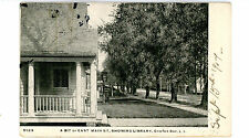 Oyster Bay LI NY - EAST MAIN STREET SHOWING LIBRARY - Postcard