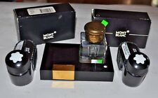 Montblanc Inkwell and 4 Ink bottles