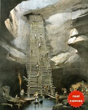 MAYAN CAVE WELL BOLONCHEN MEXICO CAMPECHE CATHERWOOD PAINTING ART CANVAS PRINT