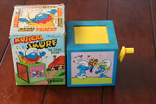 Musical Smurf in the box With the Original BOX. 1982 by Garloob