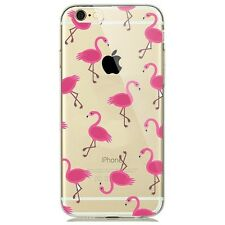 Soft Silicon Flamingo Print Transparent Back Case Cover For Apple iPhone 7 UK