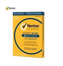 NORTON SECURITY DELUXE 1 Year 5 Devices KEY sent delivered by eBay message