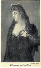 Lilli Lehmann comme Donna Anna * historique accueil de 1908