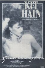 21/11/81PGN62 ADVERT: KIT HAINS NEW ALBUM SPIRITS WALKING OUT 7X5