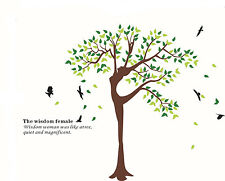 Vinyl Wall Stickers Art Mural Decal Nursery Room Tree Birds Removable Dance